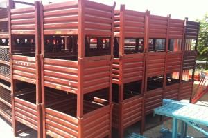 24 x 30 x 27 h steel bins item 256
