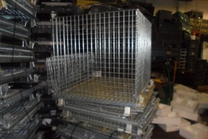 Steel Mesh Knock Down 40 x 48 x 30 ID Galv item 295
