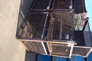 Steel Mesh Baskets 54 x 48 x 38 h item 330