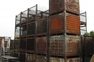 Steel bins 48 x 53 x 38 item 315