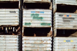 Steel Corrugated Bins30x48x18 ID item 358
