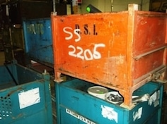 Steel Bins 34.5x40.5x32 h item 423