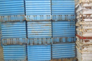 Steel Corrugated Bins 36 x 30 x 32 h 24 ID item 426 revised